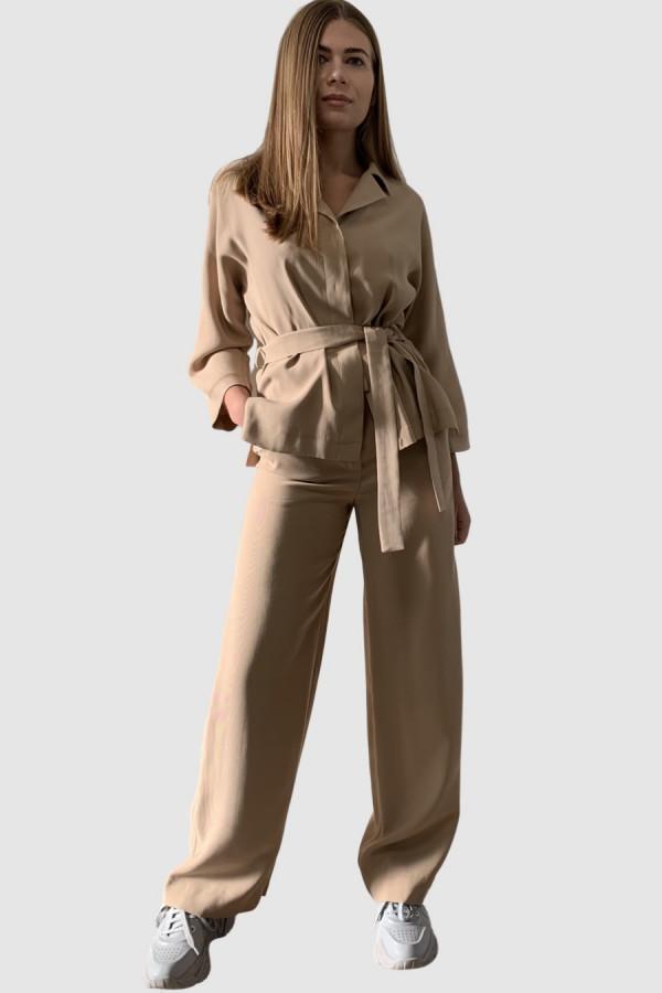 Švelniai rudos spalvos kelnės