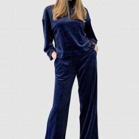 Tamsiai mėlynos spalvos kelnės