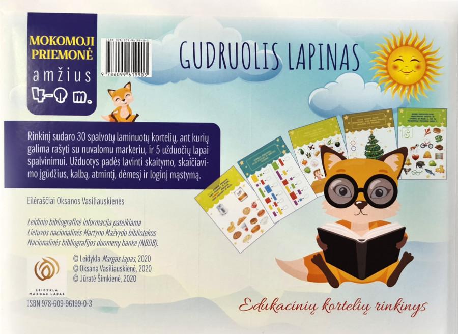 Oksana Vasiliauskienė. Gudruolis lapinas. Edukacinių kortelių rinkinys