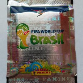 2014 Fifa World Cup Brasil pasaulio futbolo čempionatui skirti lipdukai (10 lipdukų pakelių. Iš viso 50 lipdukų)