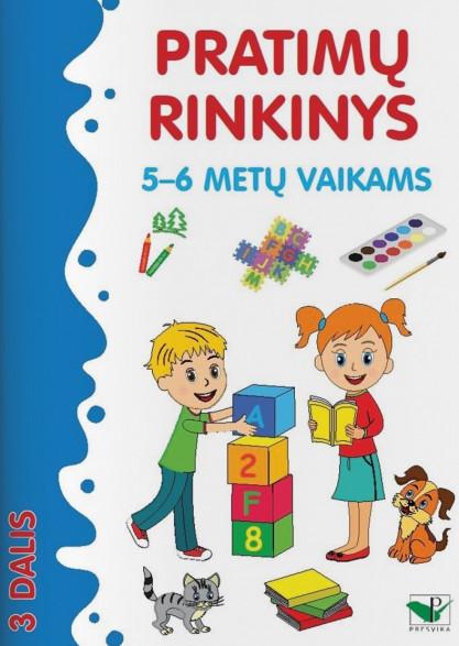 Pratimų rinkinys 5-6 metų vaikams. 3 dalis