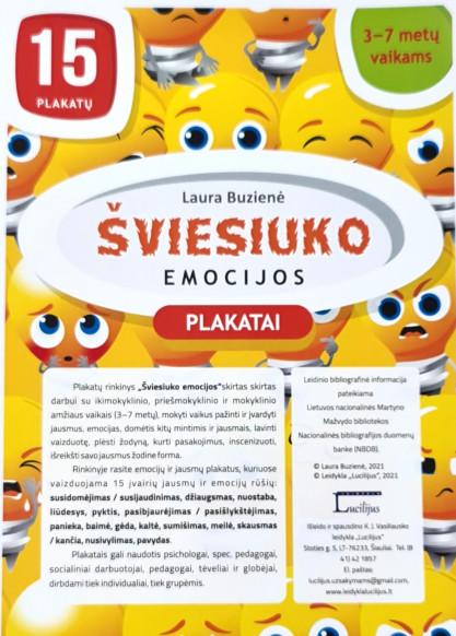 Laura Buzienė. Šviesiuko emocijos. Plakatai (A4 formatas)