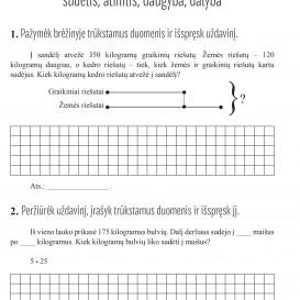 Reda Jaseliūnienė. MATEMATIKA. Tekstiniai uždaviniai. 3 klasė II dalis. Sudėtis, atimtis, daugyba, dalyba