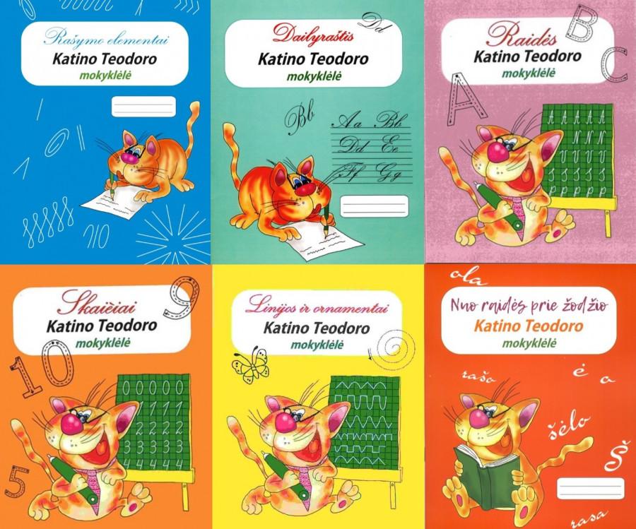 KOMPLEKTAS. Katino Teodoro mokyklėlė (6 knygelės)