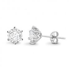 Klasikiniai auskarai su H/SI1 deimantu