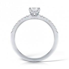 Sužadėtuvių žiedas su 17 briliantų