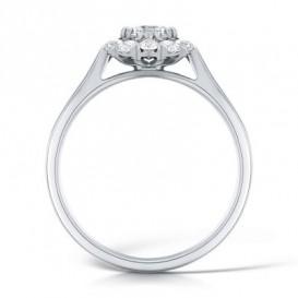 Halo sužadėtuvių žiedas