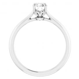 Sužadėtuvių žiedas su 0.5 CT briliantu