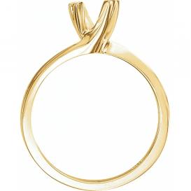 Auksinis sužadėtuvių žiedas su 0.20 CT briliantu