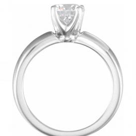 Balto aukso sužadėtuvių žiedas su 0.25 CT briliantu
