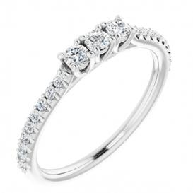 Sužadėtuvių žiedas su 21 briliantų