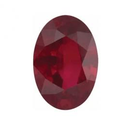 0.50 Ct natūralus ovalus Rubinas