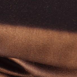 Satino paklodė su guma (šokoladinė)