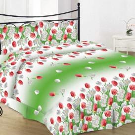 "Patalynės komplektas ""Tulips green"" 220/200"