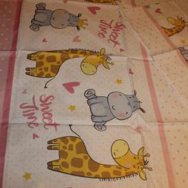 """Patalynės komplektas """"Žirafa ir draugai"""""""
