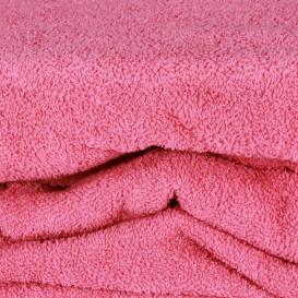 Frotinė paklodė su guma (ryškiai rožinė)