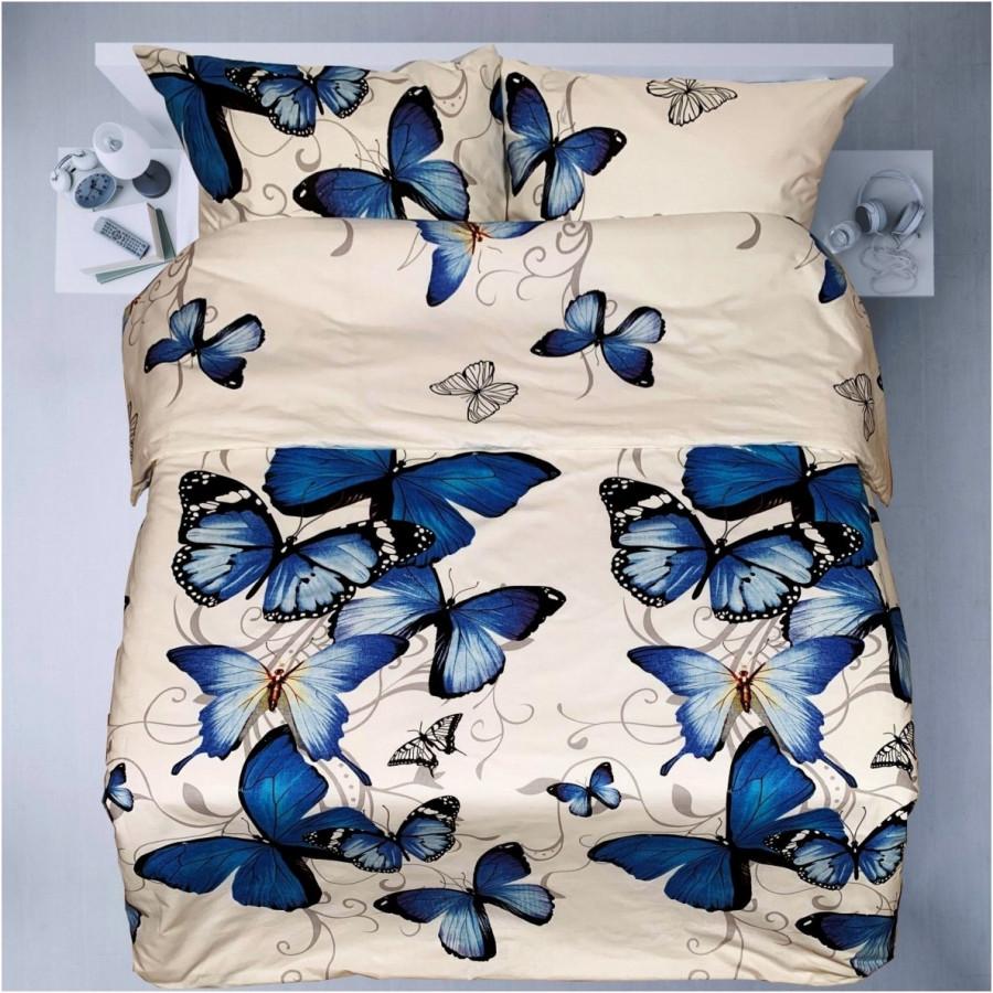 "Patalynės komplektas ""Blue Butterflies"" 220/200 su paklode"