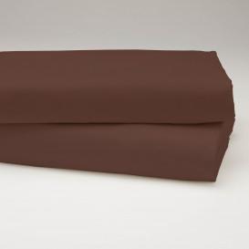 Drobinė paklodė su guma (šokoladinė)