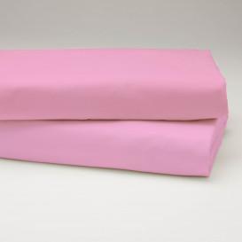 Drobinė paklodė su guma (rožinė)