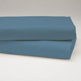 Drobinė paklodė su guma (mėlyna)