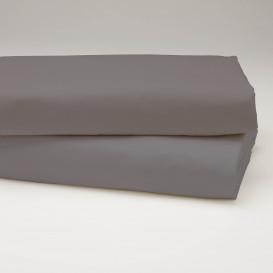 Drobinė paklodė su guma (tamsiai pilka)