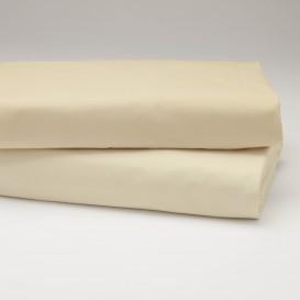 Drobinė paklodė su guma (kreminė)