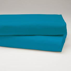 Drobinė paklodė su guma (Ryški mėlyna)