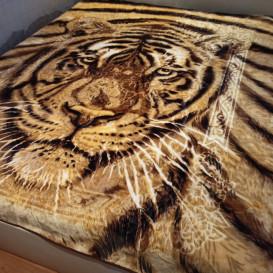 Storas minkštas pledas su tigru 160/220