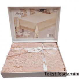 """Turkiška staltiesė """"Almira"""" rožinė"""