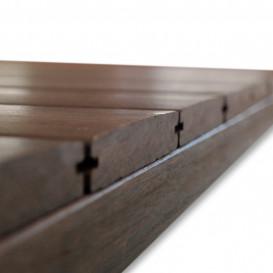 Bamboo X-treme terasinės lentos montuojamos su Grad sistema 21x118x1850 (Išgaubtu, lygiu paviršiumi)