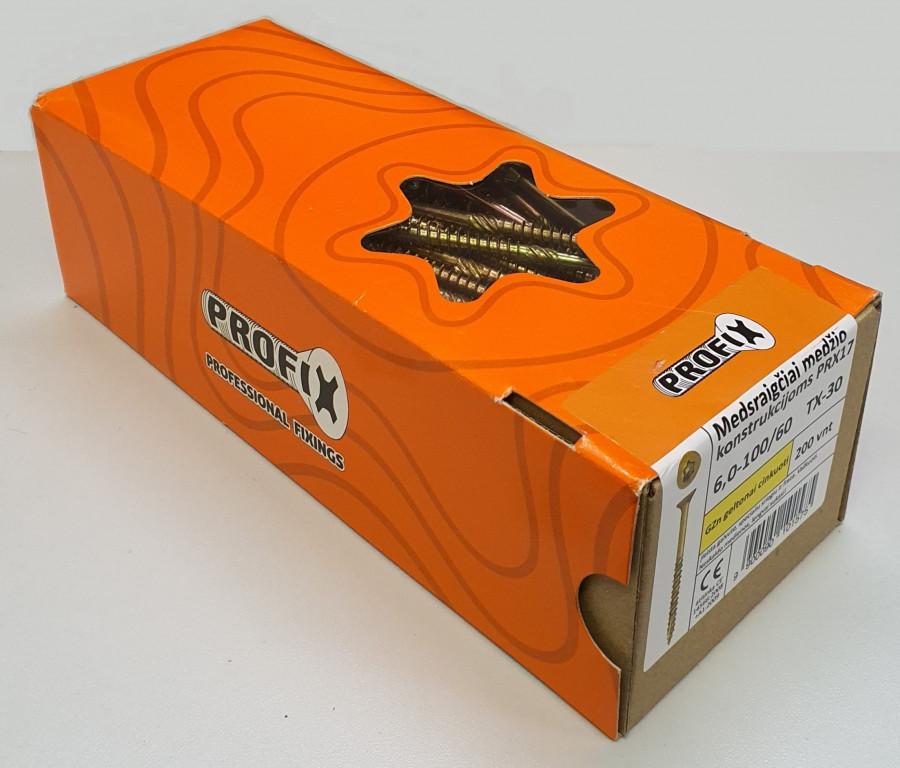 Medsraigtis Profix įleidžiama galva 6x160, 100vnt.