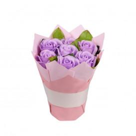 Puokštė iš muilo gėlių