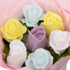 Gėlių puokštė iš natūralaus muilo
