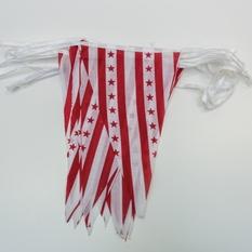 Įvairios medžiaginių vėliavėlių girliandos (VL-2)