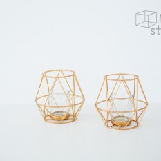 Geometrinė žvakidė arbatinei žvakei (Ž-38)
