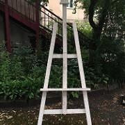 Itin aukštas medinis molbertas (Mb - 1)