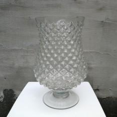 Raižyto stiklo žvakidė-vaza (Ž-57)