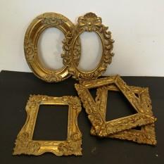 Įvairūs aukso spalvos rėmeliai be nugarėlių (RM-32)