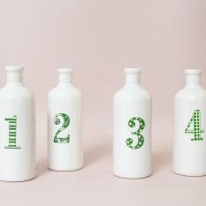 """Vazelės """"buteliukai numeriukai"""" (Vv - 16)"""