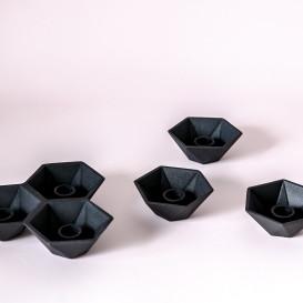 Metalinės industrinio stiliaus žvakidės siaurai žvakei (Ž - 61)