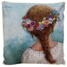 """Pagalvės užvalkalas """"Gėlių vainikas II"""""""