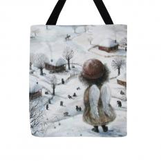 """Krepšys """"Snigo žiemos sode"""""""