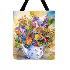 """Krepšys  """"Gėlės arbatinuke"""""""